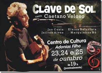 Clave de Sol canta Caetano - cartaz OK