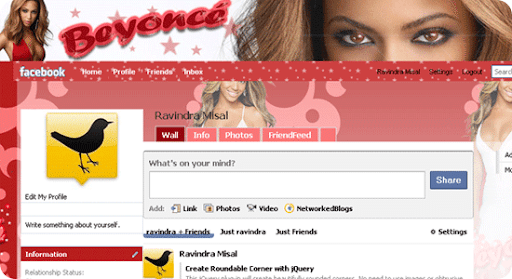 Beyonce-facebook-theme