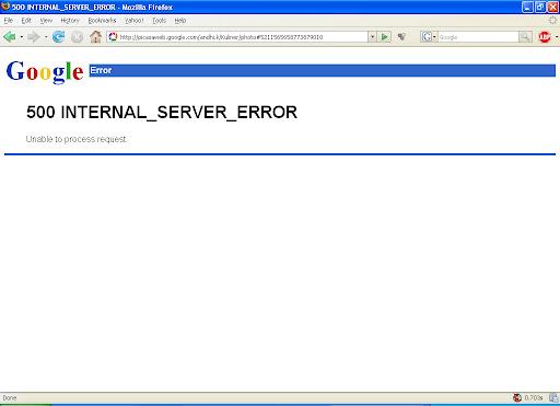 Picasaweb error