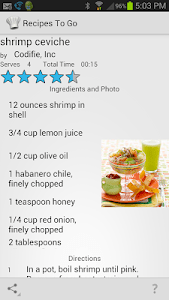 Recipes to Go screenshot 0