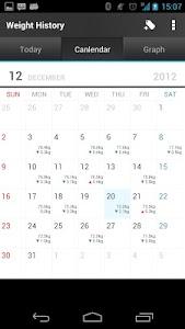 Weight History (Diet Calendar) screenshot 3