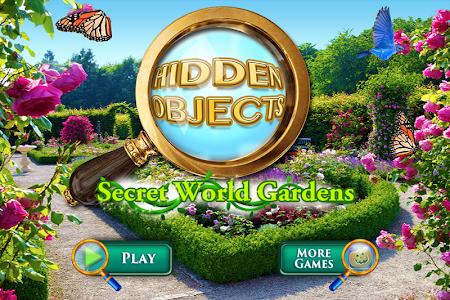 Hidden Objects Secret Gardens! screenshot 0