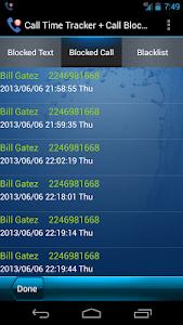 Call Time Tracker+Call Blocker screenshot 4