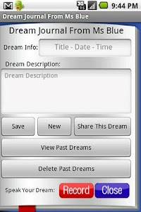 Dream Journal From Ms Blue screenshot 1