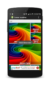 RecyclerView Tutorial Quasar screenshot 1