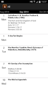 Orthodox Liturgical Calendar screenshot 1