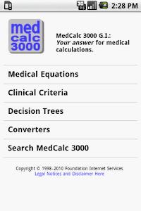 MedCalc 3000 G.I. screenshot 0