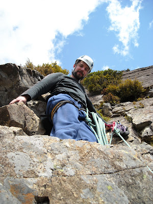 Belay ledge, Pitch 2, Shark Attack
