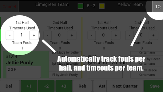 Scorebook - Basketball Leagues screenshot 1