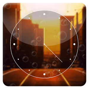 Sunset City HD Analog Clock apk