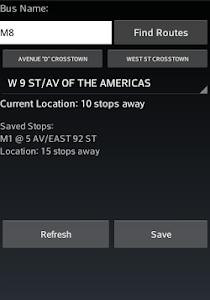 NYC Bus Tracker screenshot 1