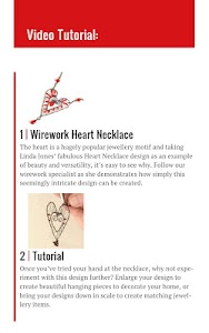 Wire Heart Necklace screenshot 1