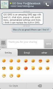 GO SMS Pro FBChat plug-in screenshot 1