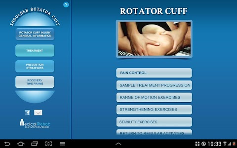 Rotator Cuff Tablet App screenshot 1