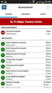 Major Trauma Triage Tool screenshot 2
