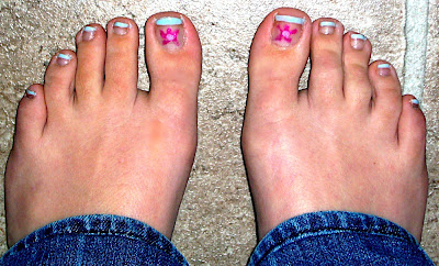 Spring Floral toenails by Bionic Beauty