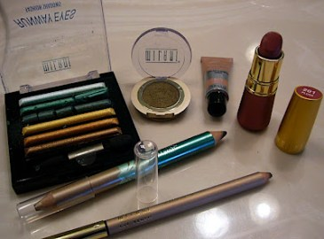 Makeup used for Green eyeshadow look of the day