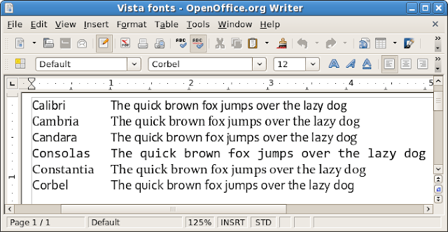 Download Install Free Office 2007 Fonts for Linux and XP ...