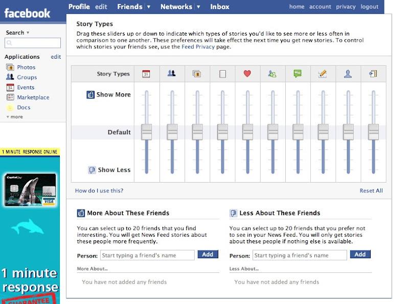 Facebook Mixing desk