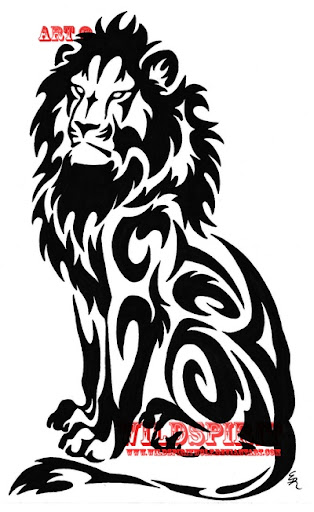 tribal tattoos lions designs