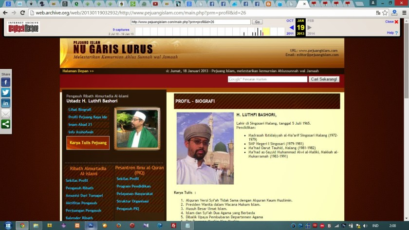 Halaman Profil Biografi Situs Pejuang Islam