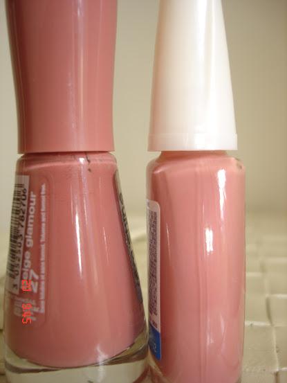 Comparação Beige Glamour e Nude Colorama
