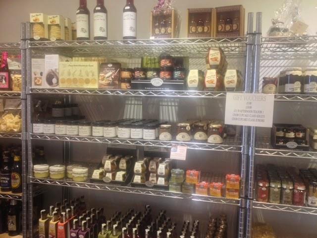 Shelves full of jams and preserves