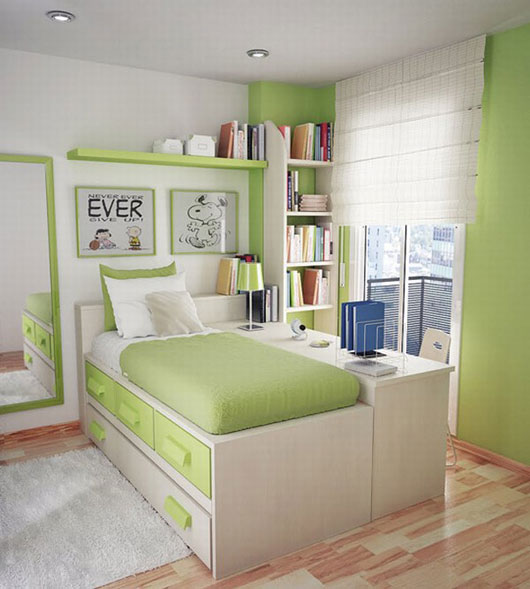 Designing Home: 10 Design Solutions for Small Bedrooms on Teenage Small Bedroom Ideas  id=13747