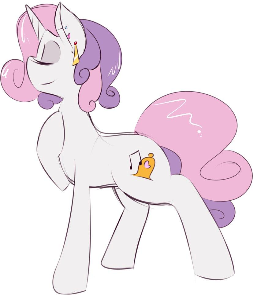 Sweetie Drawing Mlp Belle Game