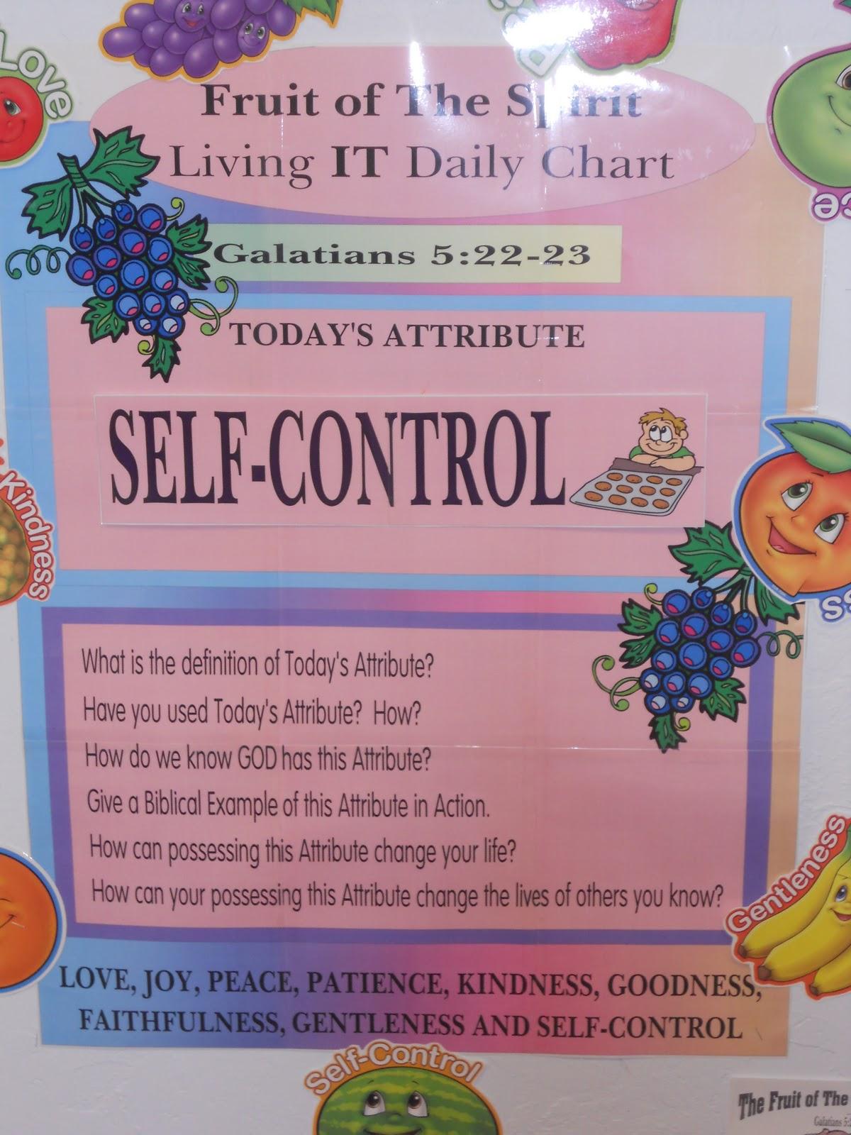 Hands On Bible Teacher Fruit Of The Spirit Self Control