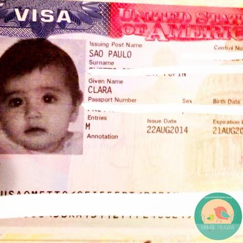 Visto americano para bebê