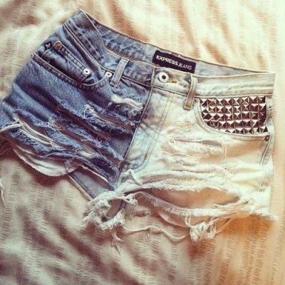 WARDROBE STAPLE: Ombre Shorts | Studded Ombre Shorts