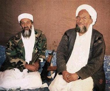 Ayman al-Zawahiri with Osama Bin Laden