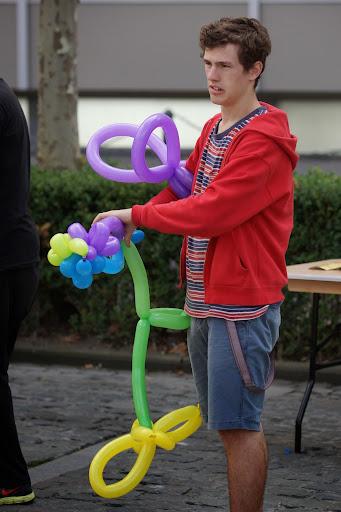 circustechnieken op sportmarkt Roeselare