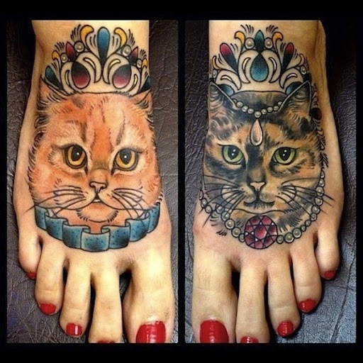 50 cute and lovely cat tattoos tattoos me. Black Bedroom Furniture Sets. Home Design Ideas