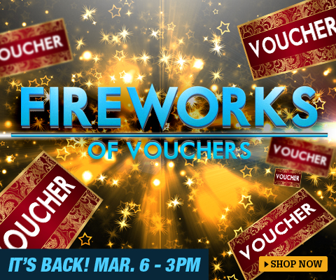 Lazada fireworks of voucher