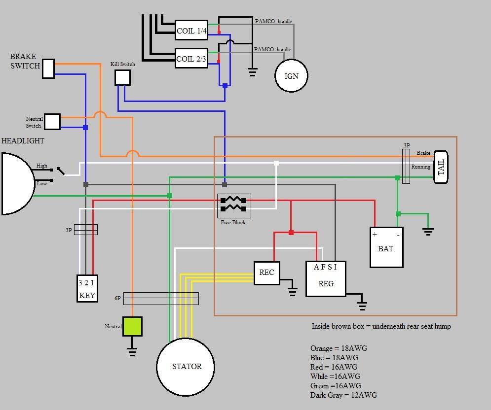 Yamaha Bear Tracker  Wiring Diagram