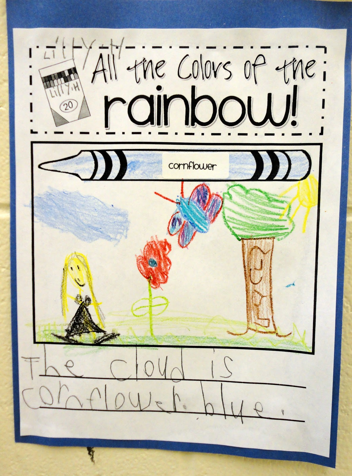 Color Word Adjective Activity First Second Third Grade