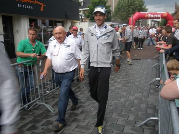 Hilaire van der Schueren(ploegleider) en Martijn Keizer van Vacansoleil-DCM