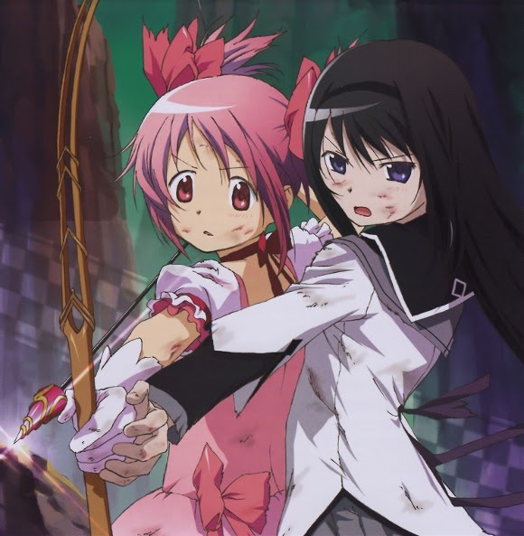 光與影與粉紅色的泡泡: [Madoka]魔法少女小圓第01話截圖