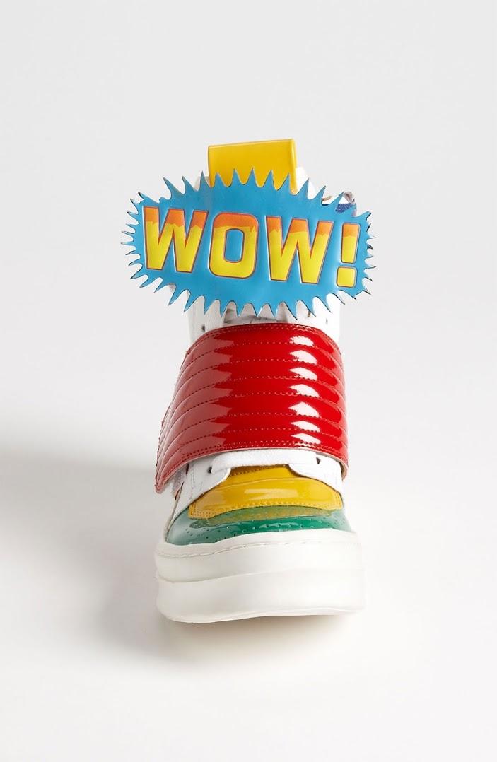 *Jeffrey Campbell 的漫畫球鞋:WOW!BAM! Sneaker 3