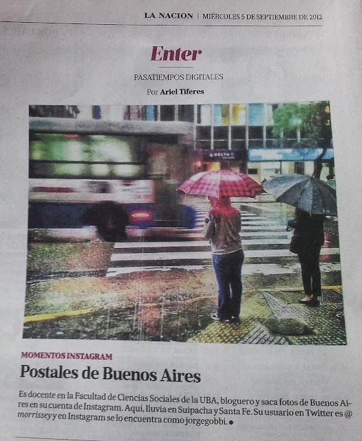 Lluvia en Suipacha y Santa Fe, Jorge Gobbi en Instagram