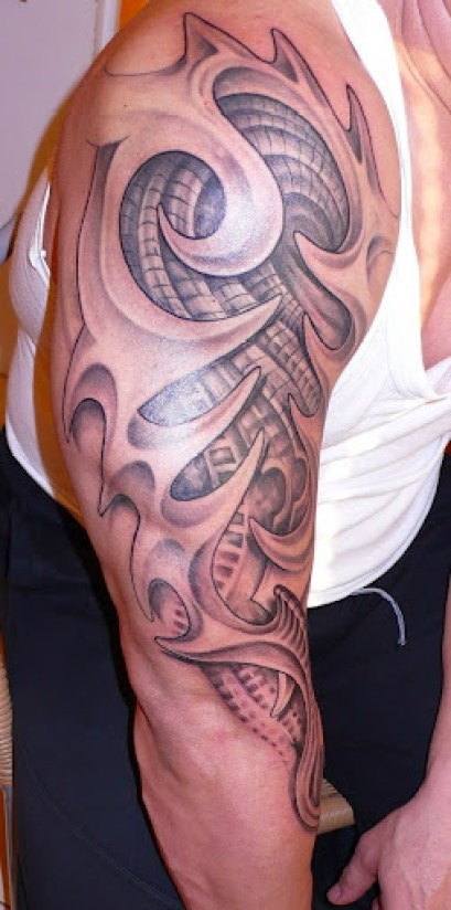3d tribal tattoos on arms