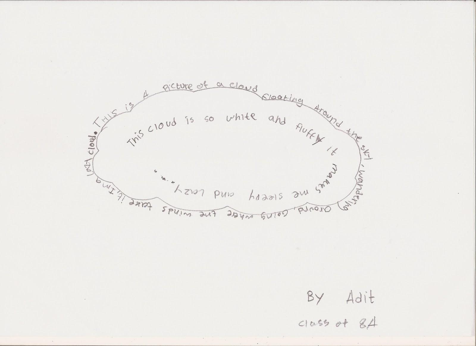 Shape Poem About Lightning