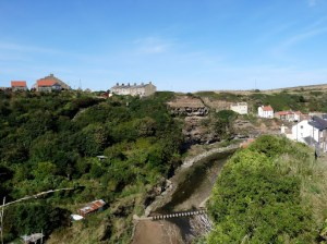 First view of Staithes