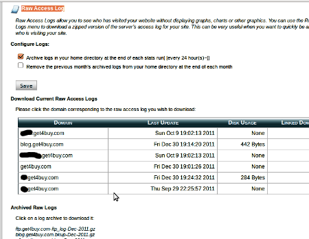 cPanel Raw Access Log, Apache web server log viewer