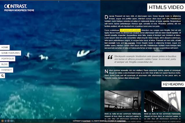 *背景充滿變數的全畫面網站|Contrast Web Site 2