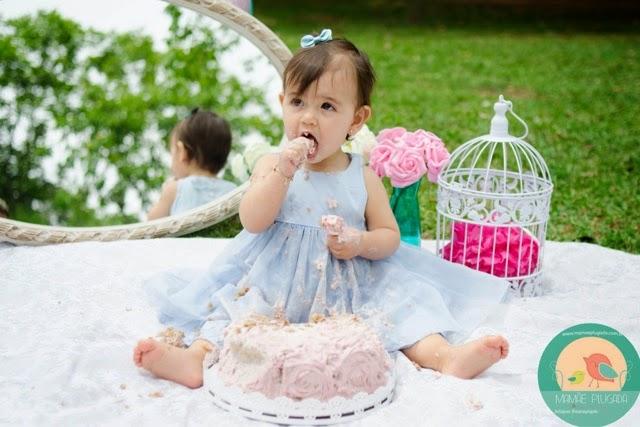 Ensaio Smash the Cake Clara Mamãe Plugada