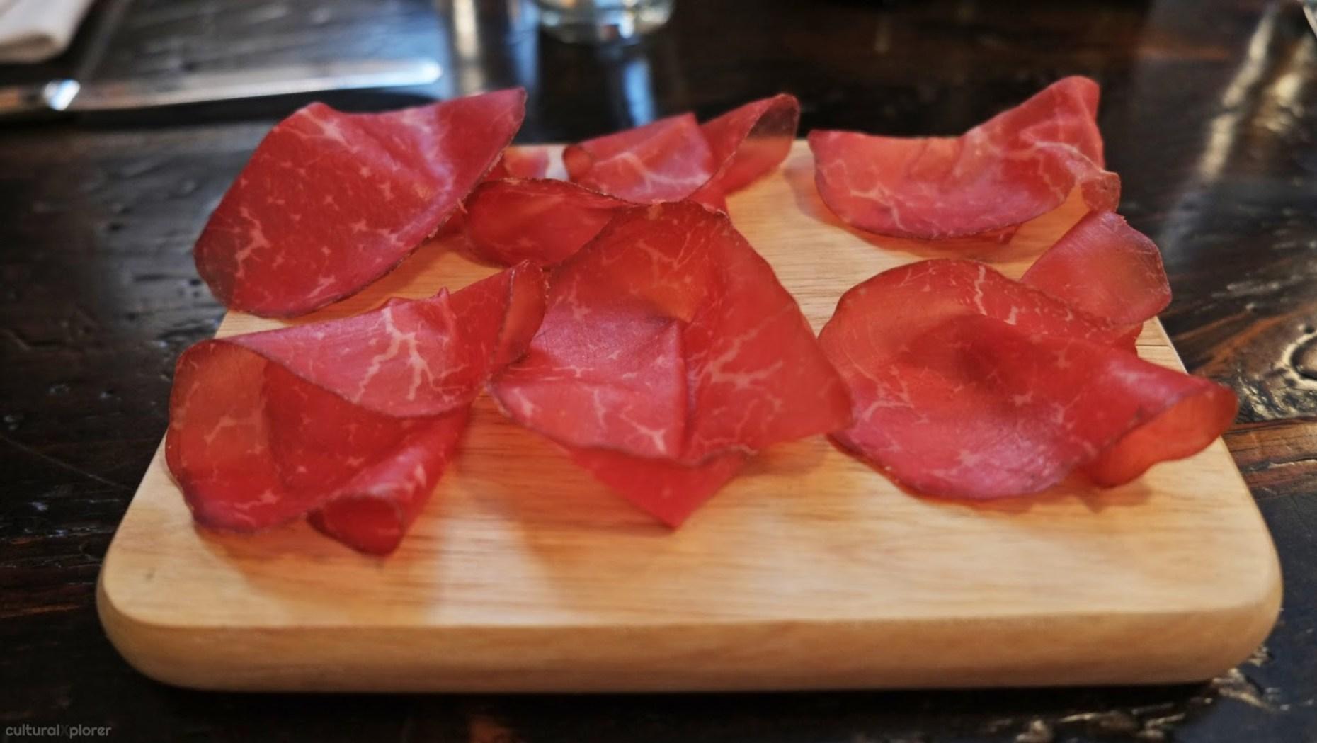 Cured Beef at Pagani