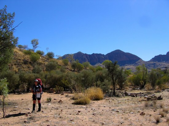 Larapinta Trail - Fran at Rocky Bar Gap